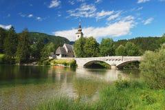 Bohinj, Slowenien Stockbild