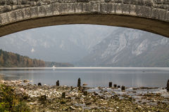 Bohinjmeer (Slovenië) Stock Afbeeldingen