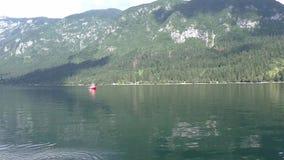 Bohinjska lake rowing slovenie 111530 stock footage