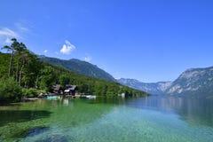 Bohinjsko jezero. Lake of the Week in Slovenia Royalty Free Stock Images