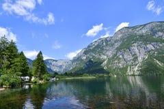 Bohinjsko jezero. Lake of the Week in Slovenia Royalty Free Stock Photos