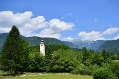 Bohinjsko jezero. Lake of the Week in Slovenia Royalty Free Stock Photo