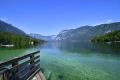 Bohinjsko jezero. Lake of the Week in Slovenia Stock Photography