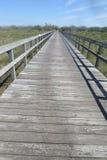Bohlenbrücke Stockfoto
