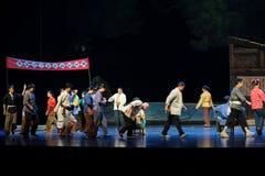 Bohnen als Stimmen Jiangxi-Oper eine Laufgewichtswaage Stockfotos