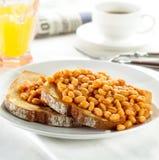 Bohnen auf Toast Lizenzfreies Stockfoto
