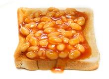 Bohnen auf Toast Stockfoto