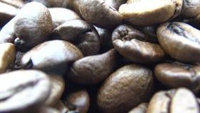 Bohnen-Fallen des Röstkaffee-4k Frischebestandteil für einen Kaffee zubereiten stock video