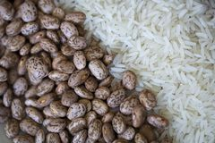 Bohnen und Reis Lizenzfreie Stockfotos