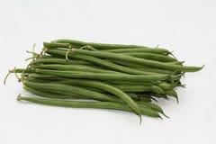 Bohnen verts - gemeine grüne Bohnen Stockfotografie