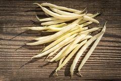 BohnenNahrungsmittel wird sie auf einem weißen Hintergrund getrennt Stockfoto