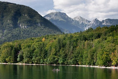Bohnij Lake in Slovenia Stock Photography
