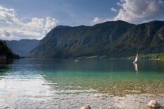 Bohnij Lake in Slovenia Stock Images