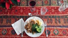 Boho圣诞晚餐 库存照片