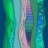 Boho样式波浪条纹纺织品样式 五颜六色的东亚或非洲无缝的背景 库存图片