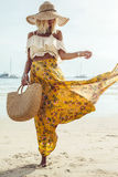 Boho海滩衣物样式 库存图片
