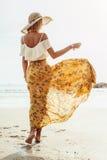 Boho海滩衣物样式 免版税图库摄影