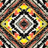 Boho纺织品无缝的样式 免版税库存图片
