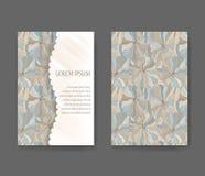Шаблон стиля Boho для карточек, приглашений Стоковое Изображение RF
