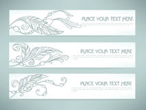 Boho banners Stock Images