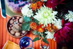 Boho blüht Blumenstrauß Stockfotografie
