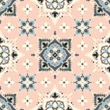 Boho-Blumen-Muster stock abbildung
