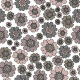 Boho Chic Ditsy Floral Seamless Pattern, Neutrals flowers Surface Pattern Background Floral Repeat Pattern for textile design, fa vector illustration