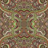 Boho chic, ornement ethnique de vintage Modèle naturel d'usine florale abstraite Éléments décoratifs multicolores Hippie, indien, Illustration de Vecteur
