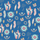 Boho Chic seamless  pattern.  Summer festival design. Boho Chic seamless  pattern. Young and free. Summer festival design Royalty Free Stock Photo