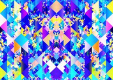 Boho colorful triangles pattern texture fracture background design stock photo