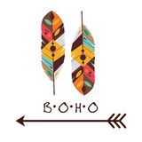 Boho-Design Lizenzfreies Stockbild