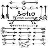 Boho doodle design elements Royalty Free Stock Photos