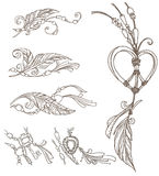 Boho doodles Stock Images