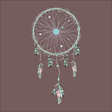 Boho dreamcatcher Royaltyfri Foto