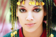 Boho eastern princess Royalty Free Stock Photo