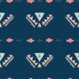 Boho Elegant naadloos patroon Het ontwerp van het de zomerfestival Stock Fotografie