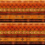Boho etniczny bezszwowy tło Plemienny sztuki boho druk, ornament granica Tła tekstury dekoracja ilustracja wektor