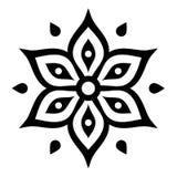 Boho flower design inspired by Mehndi - Indian Henna tattoo Royalty Free Stock Photos