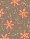 Boho flower pattern. Scales to 8.5 x 11 Royalty Free Stock Image