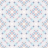 Boho Flower Pattern Blue Background. Abstact flower pattern. Seamless boho design element. Vector blue background. Intricate ornament. Unusual texture Stock Illustration