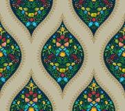 Boho Flower Pattern Stock Photography
