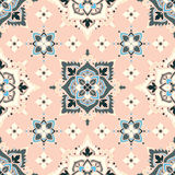 Boho Flower Pattern. Boho style flower seamless pattern. Tiled floral design, best for print fabric or papper and more Royalty Free Stock Images