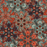 Boho Flower Pattern Royalty Free Stock Images