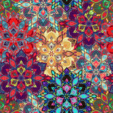 Boho Flower Pattern Stock Photo
