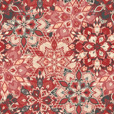 Boho Flower Pattern Stock Image