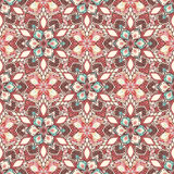 Boho Flower Pattern Royalty Free Stock Photos