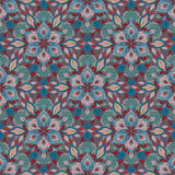 Boho Flower Pattern Royalty Free Stock Photo