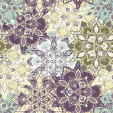 Boho Flower Pattern Stock Photos