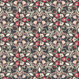 Boho Flower Pattern Stock Photography