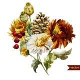 Boho flowers Stock Image